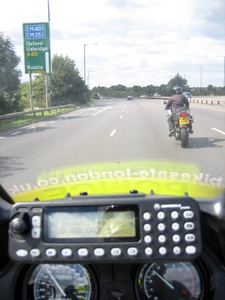 Following a customer on a BikeSafe day